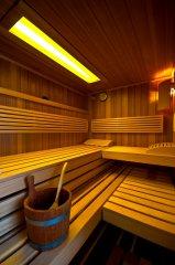 Sauna Wechsellicht gelb