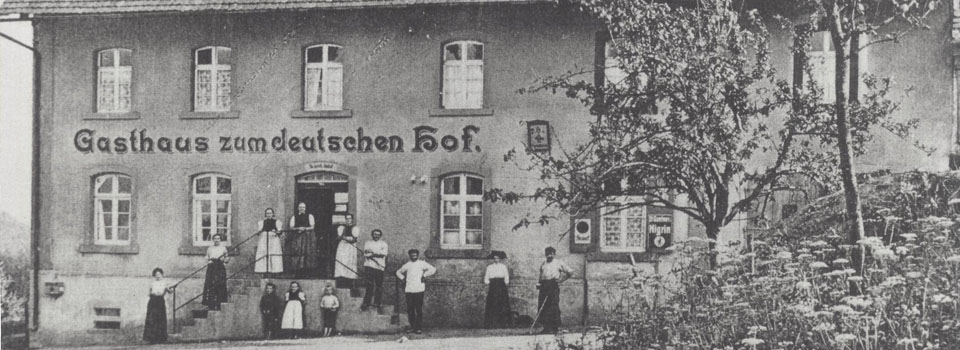 Gasthaus zum deutschen Hof um 1900